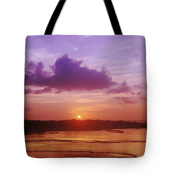 Purple And Orange Sunset Tote Bag by Vince Cavataio - Printscapes