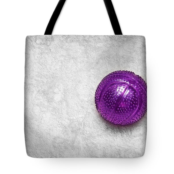 Purple Ball Cat Toy Tote Bag by Andee Design