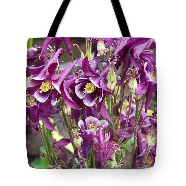 Purple Columbine Tote Bag