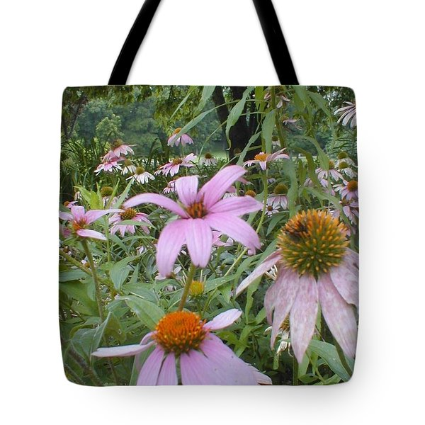 Purple Coneflowers Tote Bag by Vonda Lawson-Rosa