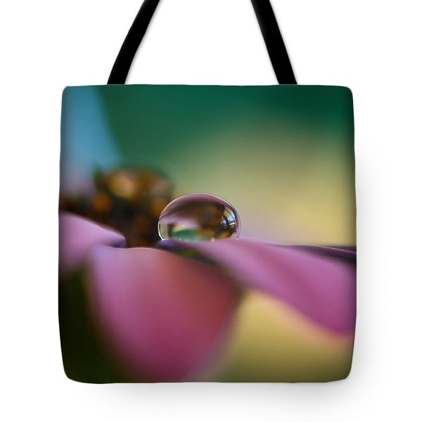 Purple Daisy Droplet Tote Bag by Kym Clarke