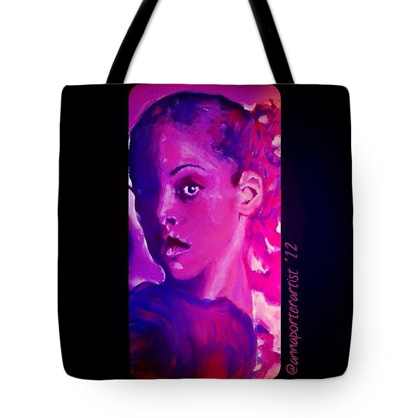 Purple Dancer 2012 Digital Painting By Annaporterartist Tote Bag