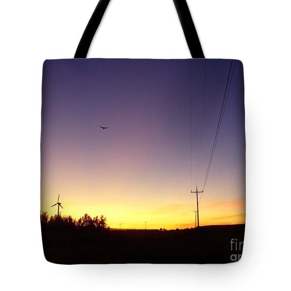 Purple Evening On The Island Tote Bag