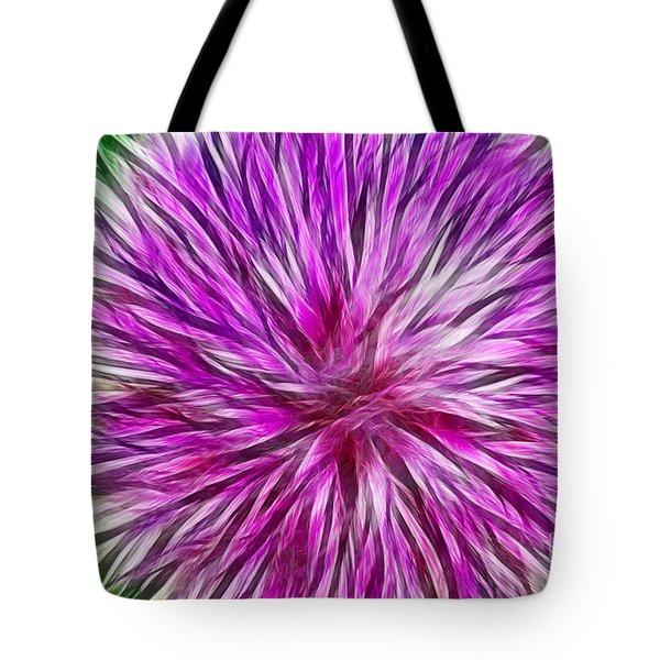 Purple Flower Fractal Tote Bag