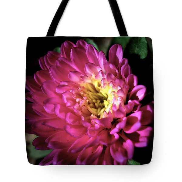 Purple Flower Tote Bag by Sumit Mehndiratta