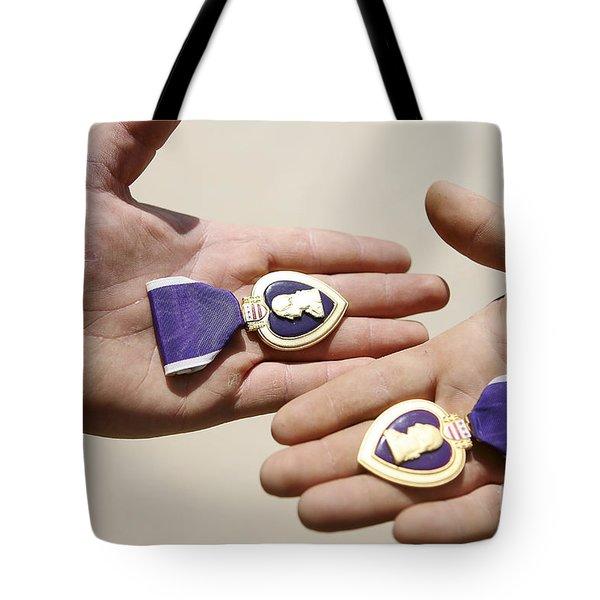 Purple Heart Recipients Display Tote Bag by Stocktrek Images