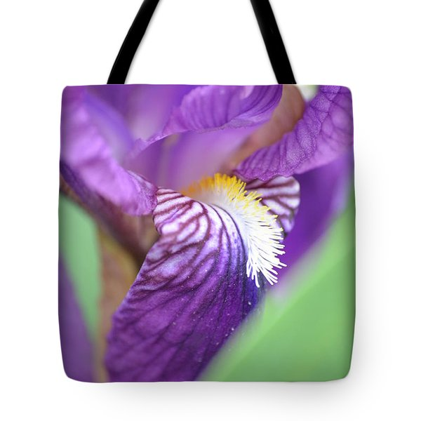 Tote Bag featuring the photograph Purple Iris by JD Grimes