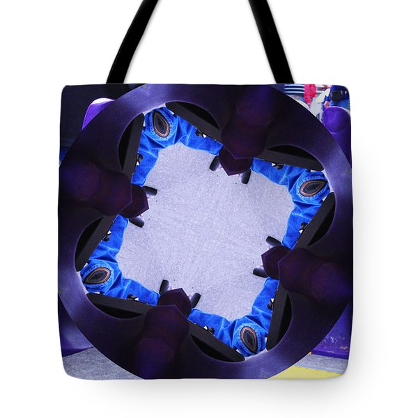 Purple Magic Fingers Chair Tote Bag by Kym Backland