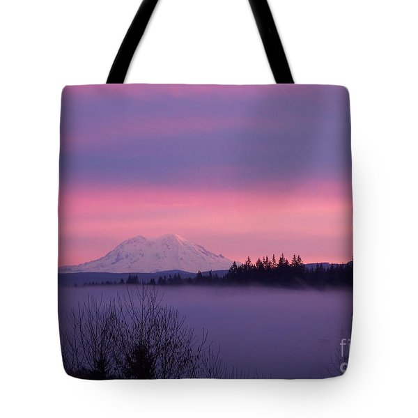 Tote Bag featuring the photograph Purple Mountain Majesty by Chalet Roome-Rigdon