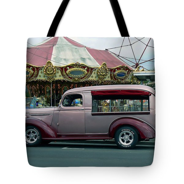 Purple Panel Tote Bag by Pamela Patch