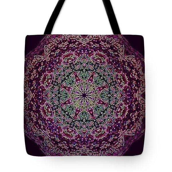 Purple Passion Mandala Tote Bag