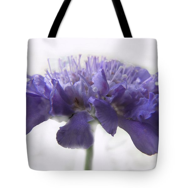 Tote Bag featuring the photograph Purple Pincushin by Debbie Portwood