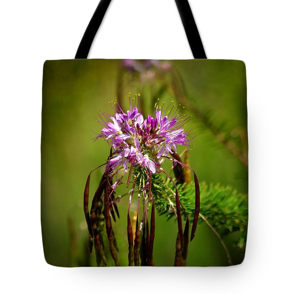 Tote Bag featuring the photograph Purple Pizzazz by Vicki Pelham