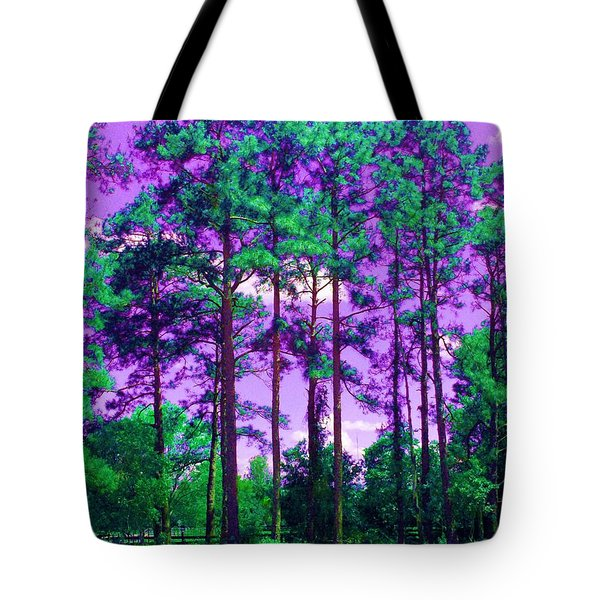 Tote Bag featuring the photograph Purple Sky by George Pedro