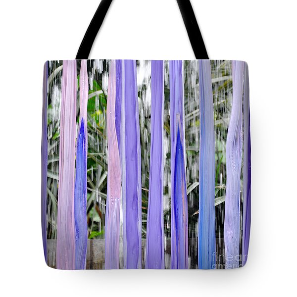 Purple Stripes Tote Bag by Cheryl McClure