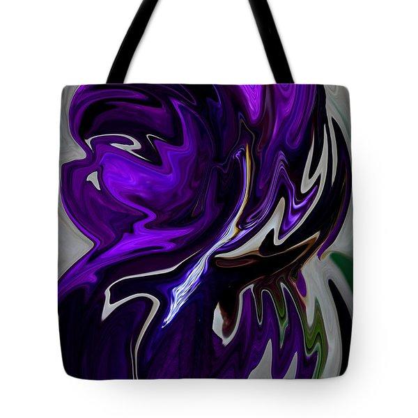 Purple Swirl Tote Bag by Karen Harrison