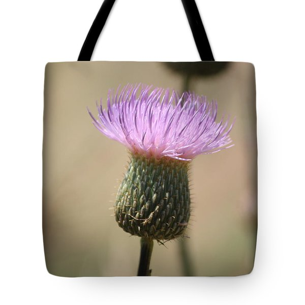 Tote Bag featuring the photograph Purple Thistle by Donna  Smith