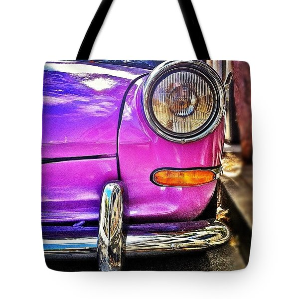 Purple Vw Bug Tote Bag
