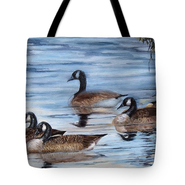 Pushing Off Tote Bag by Mary McCullah