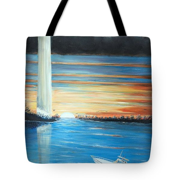 Put-in-bay Perry's Monument - International Peace Memorial  Tote Bag
