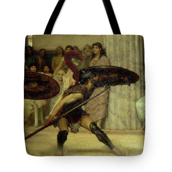 Pyrrhic Dance Tote Bag by Sir Lawrence Alma-Tadema