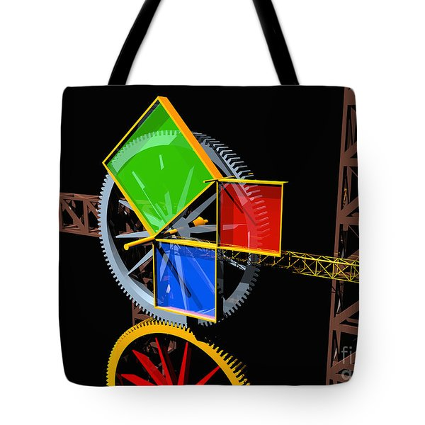 Pythagorean Machine Landscape 1 Tote Bag by Russell Kightley