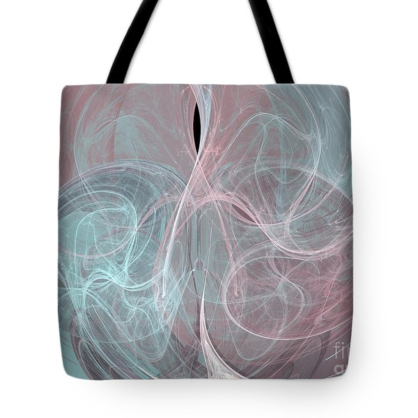Tote Bag featuring the digital art Quadrant by Kim Sy Ok