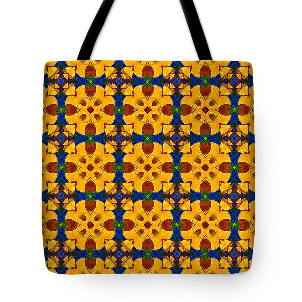 Quadrichrome 13 Symmetry Tote Bag by Hakon Soreide