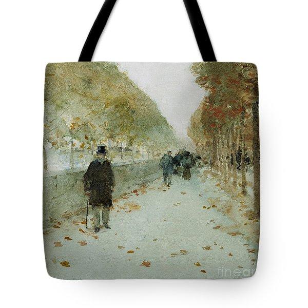 Quai Du Louvre Tote Bag by Childe Hassam