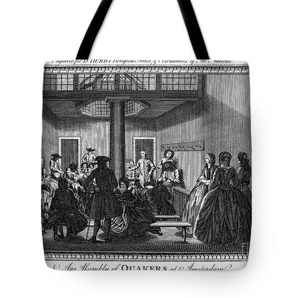 Quaker Meeting, C1790 Tote Bag by Granger