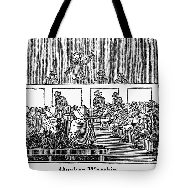 Quaker Worship, 1842 Tote Bag by Granger