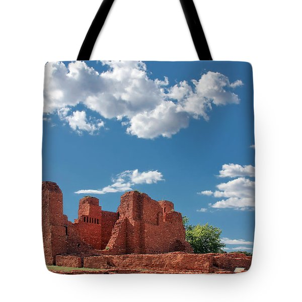 Quarai Ruins At Salinas Pueblo Missions National Monument Tote Bag by Christine Till