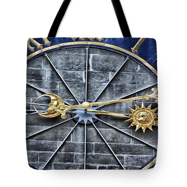 Quarter Past Tote Bag by Lauri Novak