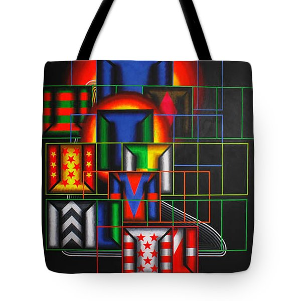Tote Bag featuring the painting Quazar by Mark Howard Jones