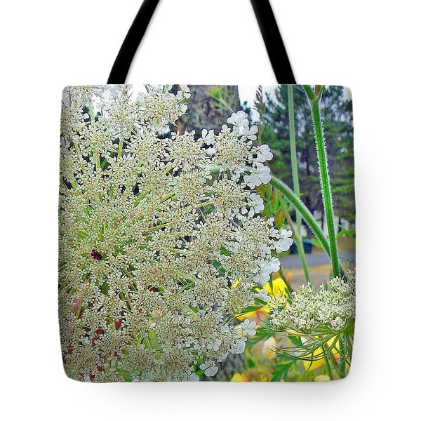 Queen Anne's Lace Tote Bag by Pamela Patch