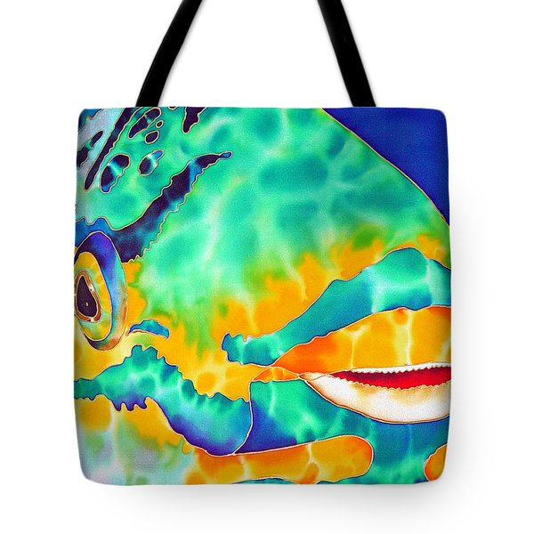 Queen Parrotfish Tote Bag by Daniel Jean-Baptiste