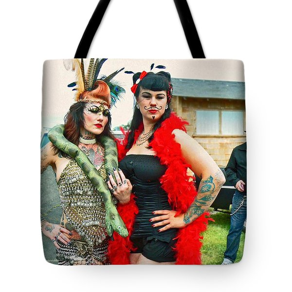 Queenie And Bettie Tote Bag by Pamela Patch