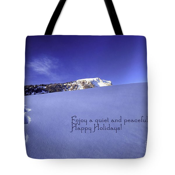 Quiet And Peaceful Christmas Tote Bag by Sabine Jacobs