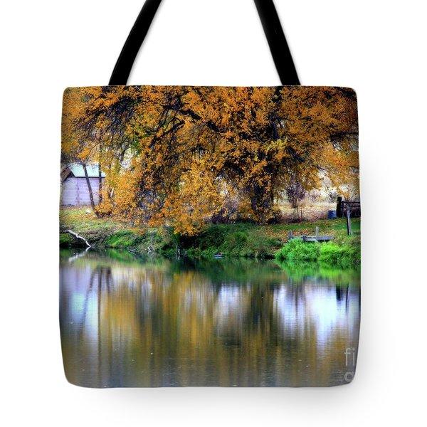 Quiet Autumn Day Tote Bag by Carol Groenen