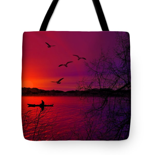 Quietude Tote Bag by Lourry Legarde