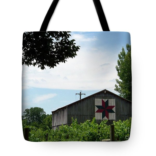 Quilted Barn And Vineyard Tote Bag