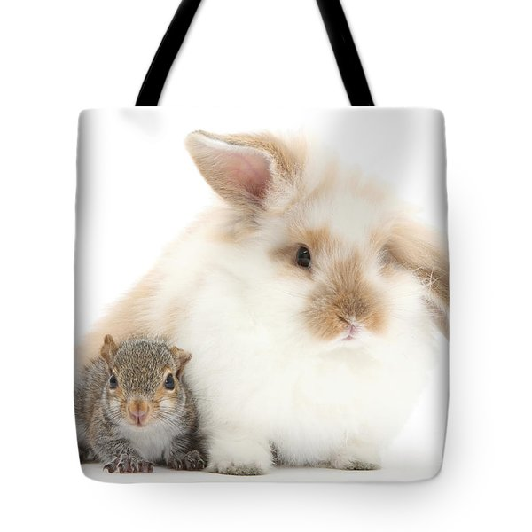 Rabbit And Squirrel Tote Bag by Mark Taylor