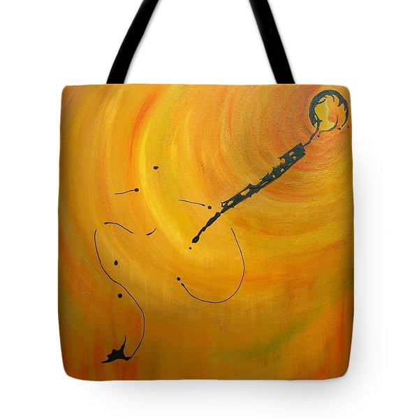 Tote Bag featuring the painting Rabbit Hole by Mary Kay Holladay