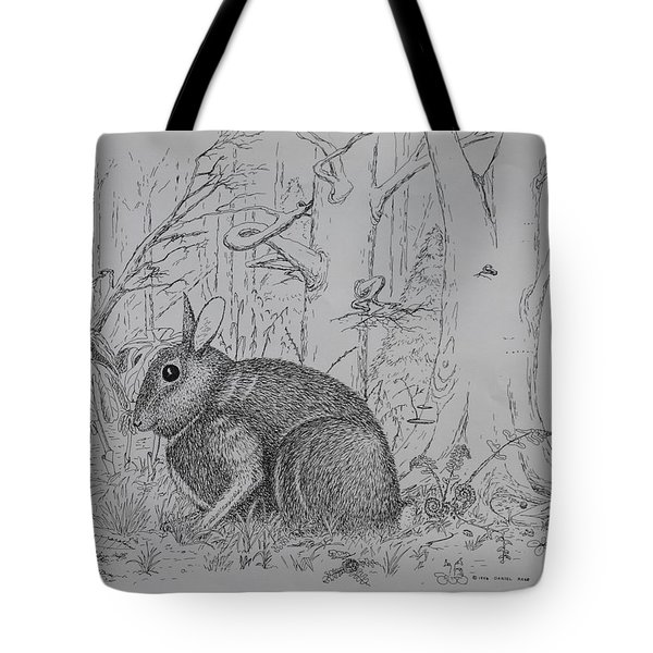 Rabbit In Woodland Tote Bag