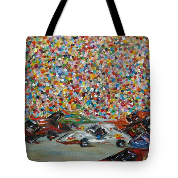 Race Day Tote Bag by Judith Rhue