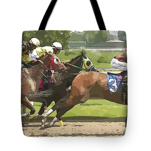 Tote Bag featuring the photograph Racetrack Views by Alice Gipson