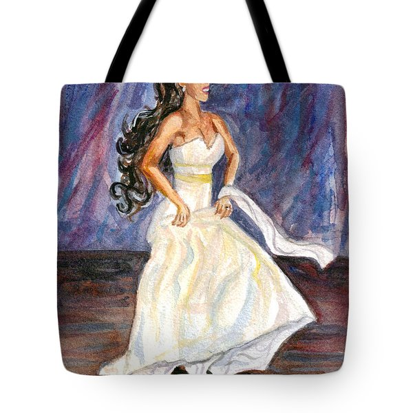 Tote Bag featuring the painting Rachel by Clara Sue Beym