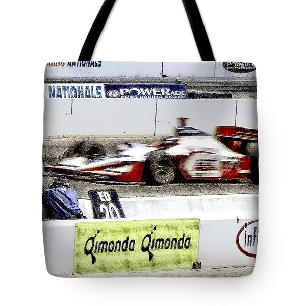 Racing Tote Bag by Donna Blackhall