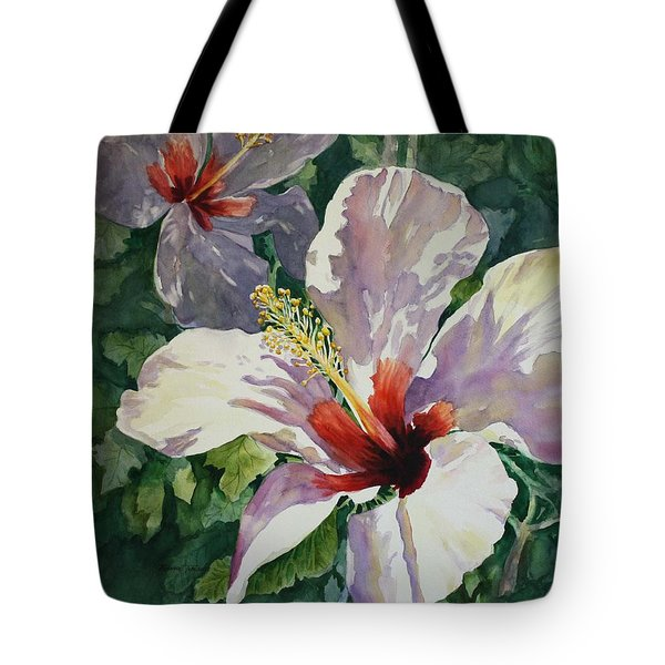 Radiant Light - Hibiscus Tote Bag