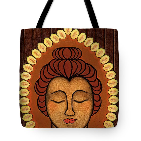 Tote Bag featuring the painting Radiant Peace by Gloria Rothrock